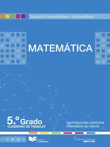 Cuaderno de Trabajo de Matemática 5