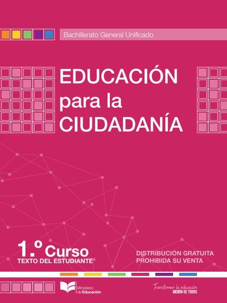Libro de Educación para la Ciudadanía 1 Bachillerato