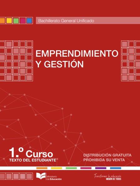 Libro de Emprendimiento y Gestión 1 Bachillerato