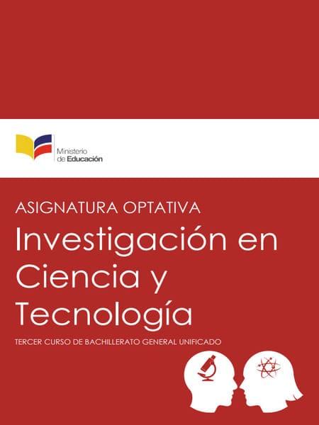 Libro de Investigación en Ciencia y Tecnología 3 Bachillerato