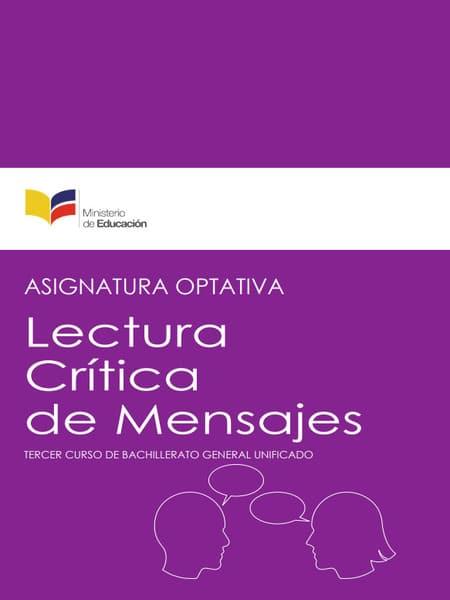Libro de Lectura crítica de mensajes 3 Bachillerato