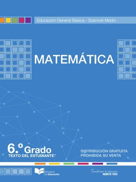 Libro de Matemática 6