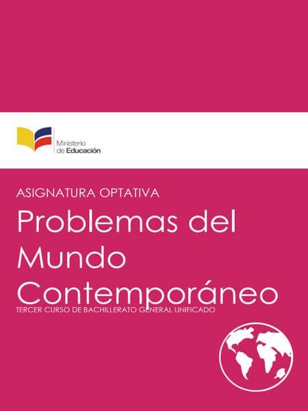 Libro de Problemas del mundo contemporáneo 3 Bachillerato