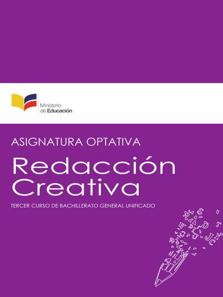 Libro de Redacción Creativa 3 Bachillerato