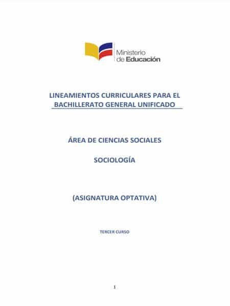 Libro de Sociología 3 Bachillerato